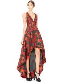 Beckie V Neck Flower Gown by Alice + Olivia at Alice and Olivia