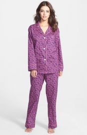 BedHead Classic Woven Pajamas in Purple Petunia at Nordstrom