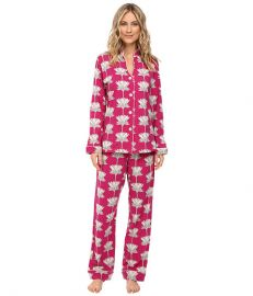 BedHead Long Sleeve Mandarin Collar Pajama Set Lotusland at Zappos