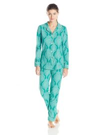 BedHead Pajamas Womenand39s Classic Pajama Stretch Set in Jade at Amazon