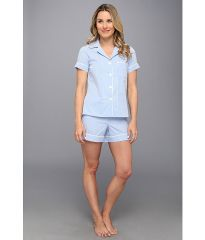 BedHead Shorty PJ Set Blue Gingham at 6pm