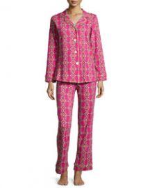 Bedhead Royal Foulard Printed Knit Pajama Set Magenta at Neiman Marcus