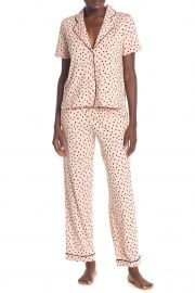 Bedtime Heart Print Top & Pants at Nordstrom Rack