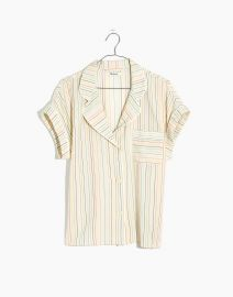 Bedtime Pajama Top in Rainbow Stripe at Madewell