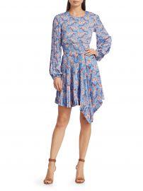 Behati Asymmetrical Hem Pleated Mini Dress at Saks Fifth Avenue