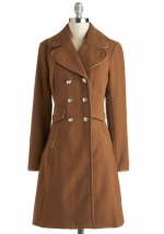 Beige coat from Modcloth at Modcloth