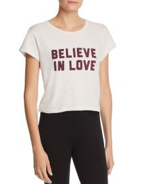 Believe In Love Cropped Tee at Bloomingdales
