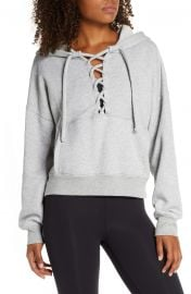 Believe It Lace-Up Hoodie at Nordstrom