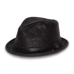 Belksy Leather Fedora at Goorin Bros