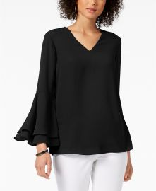 Bell-Sleeve Blouse by Alfani at Macys