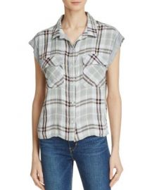 Bella Dahl Flap Pocket Plaid Crop Shirt at Bloomingdales