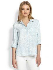 Bella Dahl - Ikat Leopard Button-Down Shirt at Saks Fifth Avenue