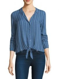 Bella Dahl - Tie Front Striped Shirt at Saks Fifth Avenue