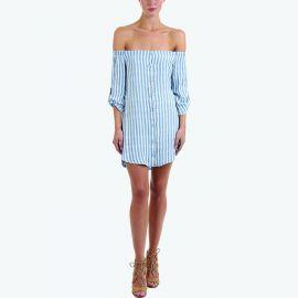 Bella Dahl Off the Shoulder Button Down Dress at Elevtd