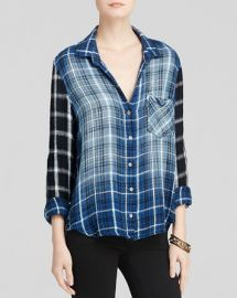 Bella Dahl Shirt - Mixed Plaid Raglan at Bloomingdales