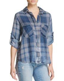 Bella Dahl Split Back Plaid Shirt at Bloomingdales