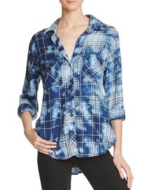 Bella Dahl Two Pocket Plaid Button Down Shirt at Bloomingdales