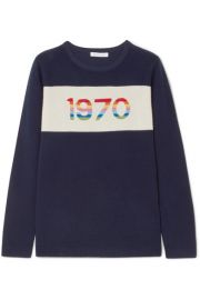Bella Freud   1970 metallic cashmere sweater at Net A Porter
