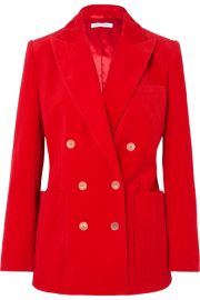 Bella Freud - Bianca double-breasted cotton-corduroy blazer at Net A Porter