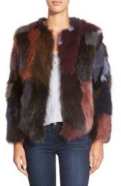 Belle Fare Multicolor Genuine Fox Fur Jacket at Nordstrom