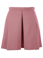 Belle's red pleated skirt at Farfetch