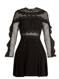 Bellis guipure-lace and pleated-crepe dress at Matches