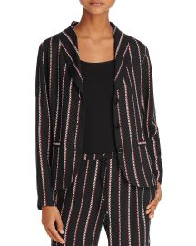 Beltaine Chevron-Stripe Crepe Jacket x at Bloomingdales
