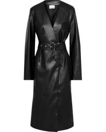 Belted Faux Leather Coat by Each x Other at The Outnet