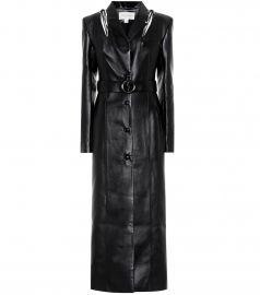 Belted faux leather coat at Mytheresa