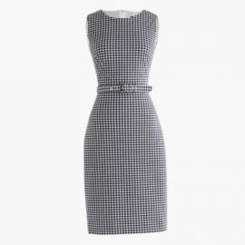 Belted gingham dress at J. Crew
