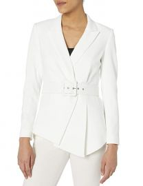 Belted Asymmetrical Crepe Blazer by Tahari ASL at Amazon
