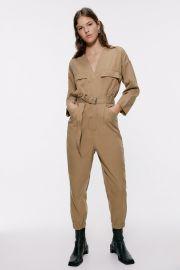 Belted Cargo Jumpsuit by Zara at Zara