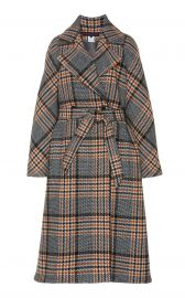 Belted Checked Wool Coat by Martin Grant at Moda Operandi