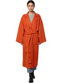 Belted Cloth Coat by Loewe at Luisaviaroma