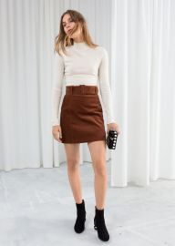 Belted Corduroy Skirt at & Other Stories