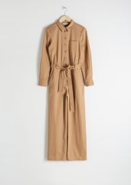 Belted Cotton Boilersuit at & Other Stories