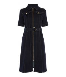 Belted Denim Dress at Karen Millen
