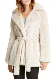 Belted Faux Fur Coat by Vince at Nordstrom