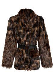 Belted Faux Fur Patrice Jacket by Rodejber at Bona Drag