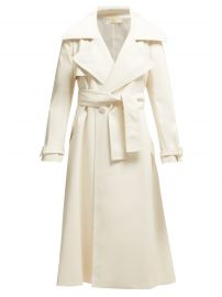 Belted Faux-Leather Trench Coat by Sara Battaglia at Matches