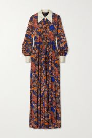 Belted Floral-print Jersey and Duchesse Jumpsuit by Marc Jacobs at Net A Porter