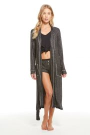 Belted Glitter Lounge Robe by Chaser at Chaser