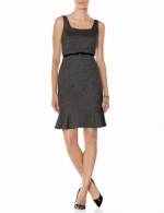 Belted Marled Ponte dress at The Limited
