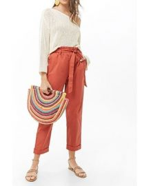 Belted Paperbag Pants by Forever 21 at Forever 21