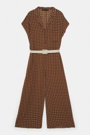Belted Polka Dot Jumpsuit by Zara at Zara