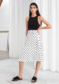 Belted Polka Dot Midi Skirt at & Other Stories