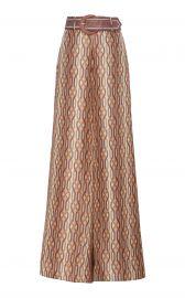 Belted Printed Silk Wide-Leg Pants at Moderoperandi