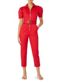 Belted Puff-Sleeve Jumpsuit at Saks Off 5th