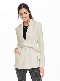 Belted Shawl-Collar Blazer at Banana Republic