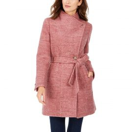 Belted Toggle Wrap Coat at Macys